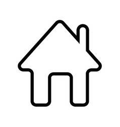 home icon outline vector image