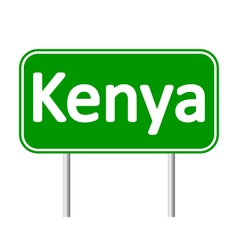 Kenya road sign vector