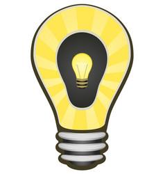 Light bulb double inner cartoon vector
