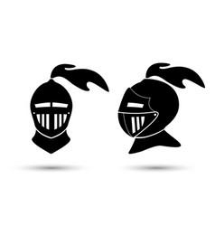 Medieval knight in helmet vector