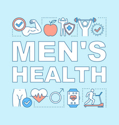 mens health word concepts banner medical vector image