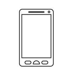 monochrome silhouette of smartphone icon vector image
