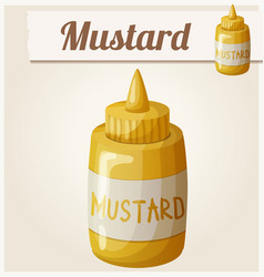 mustard cartoon icon vector image
