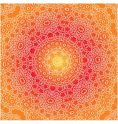 Orange white and yellow pattern vector image