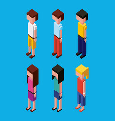 People character avatar isometric vector