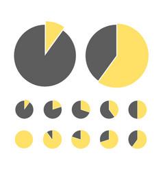 pie chart statistic concept business flow process vector image
