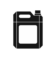 Plastic jerry can icon simple style vector