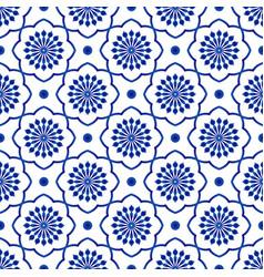 porcelain flower pattern vector image