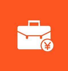 Portfolio icon with yuan symbol vector