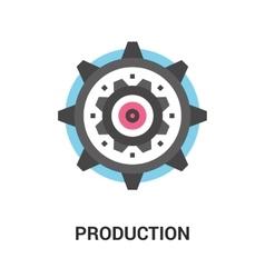 Production icon concept vector