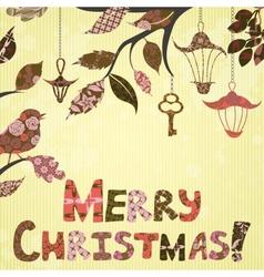 Scrap-booking Christmas card vector