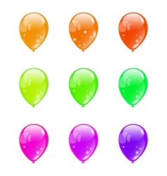 Set colorful balloons isolated on white background vector image
