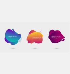 set of colorful design templates for presentation vector image