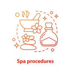Spa procedures concept icon vector