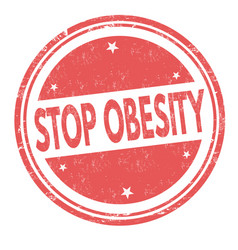 stop obesity grunge rubber stamp vector image