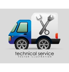 technical service vector image