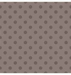 Tile pattern with brown polka dots dark background vector image