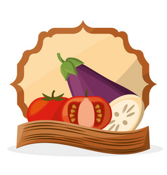 vegetables fresh food healthy poster vector image