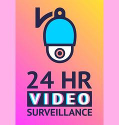 Video surveillance camera cctv poster vector