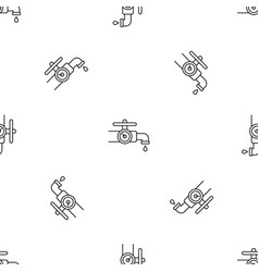 water tap control pattern seamless vector image