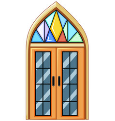 Window with mosaic glass vector