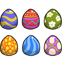 doodle easter eggs vector image vector image