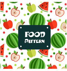 food pattern apple watermelon background im vector image