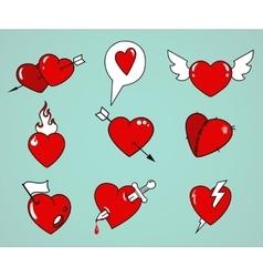 hearts set vector image vector image