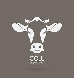 Image of a cow head design vector