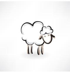lamb grunge icon vector image vector image