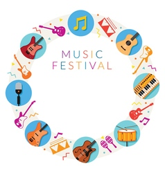 Music Instruments Icons Frame vector image vector image