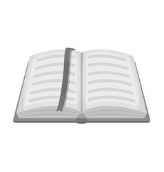 opened notepad with pencil and pen in top view vector image