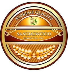 sandalwood essential oil vector image vector image