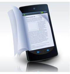 smartphone e-book vector image vector image