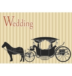 Vintage horse carriage vector image