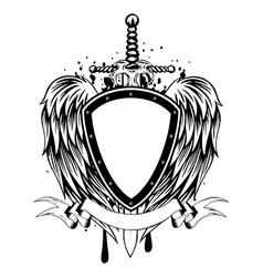 board sword wings vector image vector image