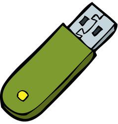 doodle flash memory vector image vector image