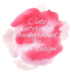 Handdrawn watercolor background with designed text vector image