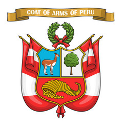 peruvian coat of arms vector image