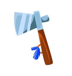tomahawk war axe native american indian culture vector image vector image