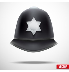 Traditional helmet of metropolitan British police vector image vector image