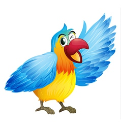 A smiling parrot vector image