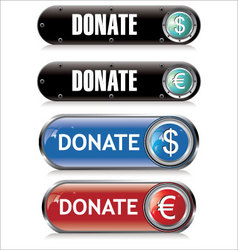 donate support button vector image vector image