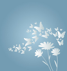 flying butterflies and flow vector image