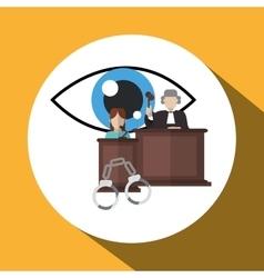 Law design Justice icon Flat vector image