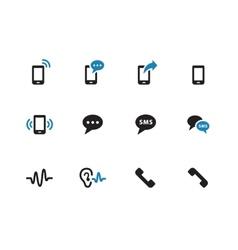 Phone duotone icons on white background vector image