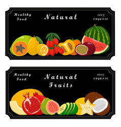 the sweet fruits vector image vector image
