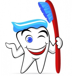 tooth character vector image vector image
