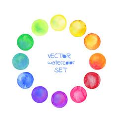 watercolor circles se vector image vector image