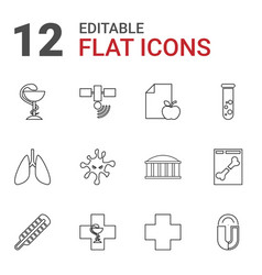 12 science icons vector